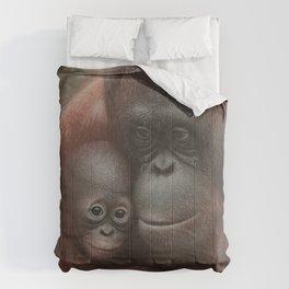 Orangutan Mother and Baby - Snuggled Comforters