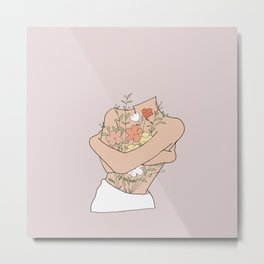Flowers from within Metal Print