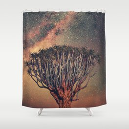 Milky Way Stars Joshua Tree Shower Curtain