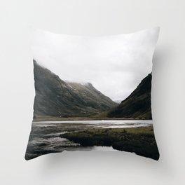 Glen Coe / Scotland Throw Pillow