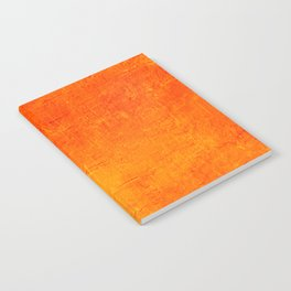 Orange Sunset Textured Acrylic Painting Notebook