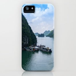 View from Sung Sot Cave, Ha Long Bay, Vietnam iPhone Case