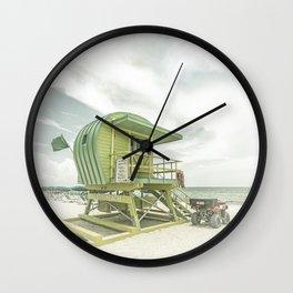 MIAMI BEACH Vintage Florida Flair Wall Clock