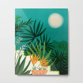 Tropical Moonlight / Tropical Night Series #1 Metal Print