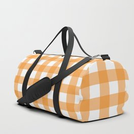 Orange gingham pattern Duffle Bag