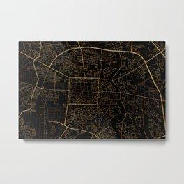 Chiang Mai map, Thailand Metal Print