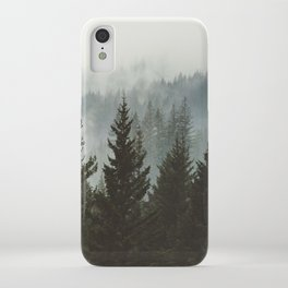 Forest Fog Mountain IV - Wanderlust Nature Photography iPhone Case