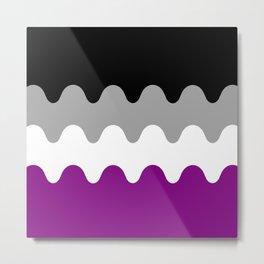 Wavy Asexual Flag Metal Print