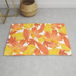 Autumn leaves Rug