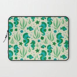 Seahorses (Blue & Green) Laptop Sleeve