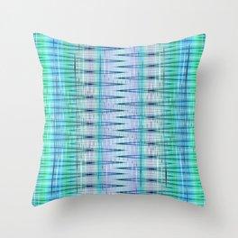 pattern blue no. 4 Throw Pillow