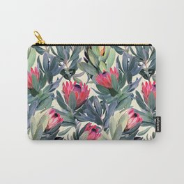 Painted Protea Pattern Carry-All Pouch