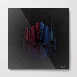 Optimus Prime Line Art by Kaydesign Metal Print