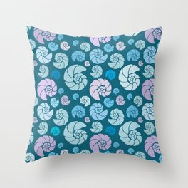 Sea shells pattern pastels #2 Throw Pillow