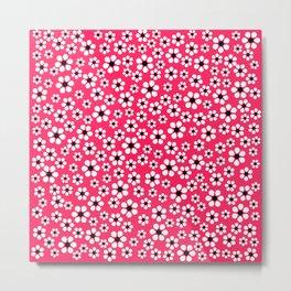 Dizzy Daisies - pink punch Metal Print
