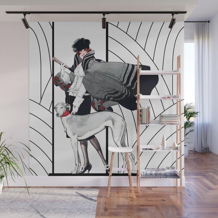 Art Deco Haute Couture Fashion Wall Mural Glimmersmith Society