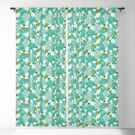 Blooms & Bees Blackout Curtain