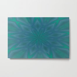 Aurora In Teal Blue and Green Metal Print