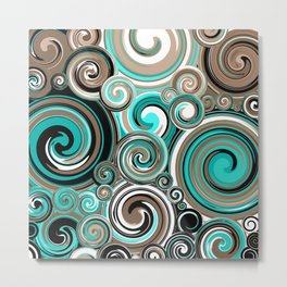 Water Whirlwind Abstract 2 Metal Print