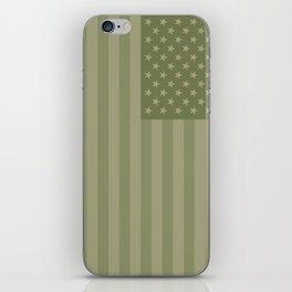 Camo Stars and Stripes – USA Flag in Military Camouflage Colors [FalseFlag 1] iPhone Skin