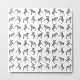 Dala Zebra Pattern Metal Print