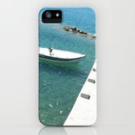 Boat In Nafplio iPhone Case