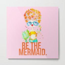 pink lemonade -- be the mermaid. Metal Print