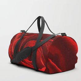 Red Rose with water drops 93 Duffle Bag