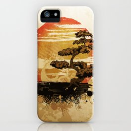 Bonsai Tree In The Sunset iPhone Case