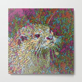 Abstract Otter Metal Print