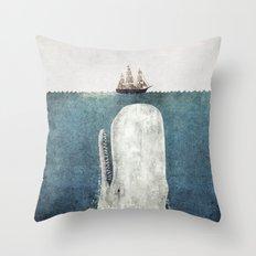 The Whale - vintage  Throw Pillow