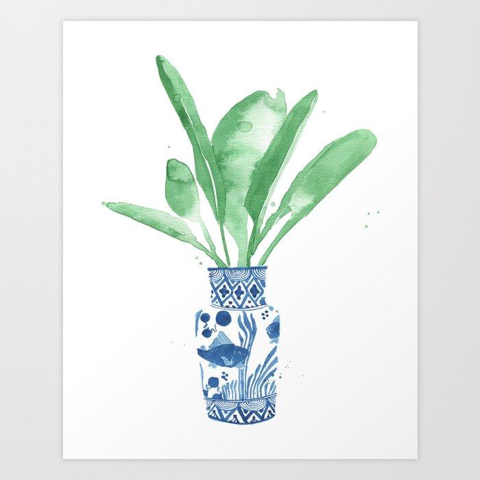 Ginger Jar + Bird of Paradise Art Print