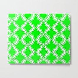 Grille No. 1 -- Lime Metal Print