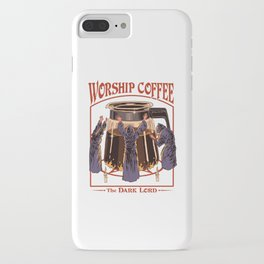 Worship Coffee iPhone Case