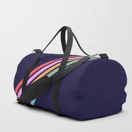 Bathala - Minimal Classic 80s Style Graphic Design Stripes Duffle Bag