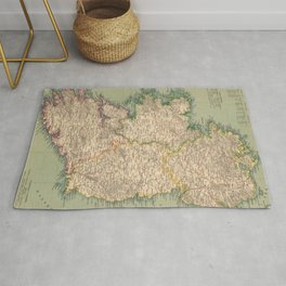Vintage Map of Ireland (1888) Rug