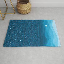 Ornament sky, nautical blue Rug
