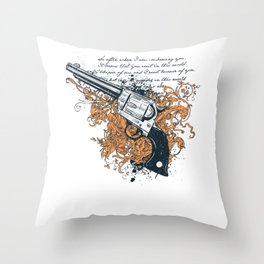 The Revolver Throw Pillow