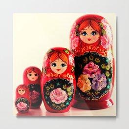 Babushka Russian Doll Metal Print