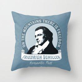 Romantic Poet Mountain Freedom Throw Pillow