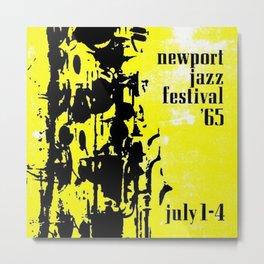 1965 Newport Jazz Festival Vintage Advertisement Poster Newport, Rhode Island Metal Print
