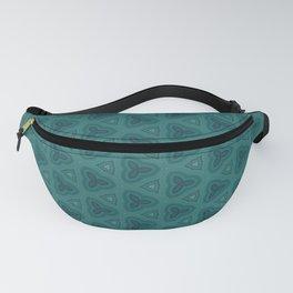 Dark Teal Textured Pattern Design Fanny Pack