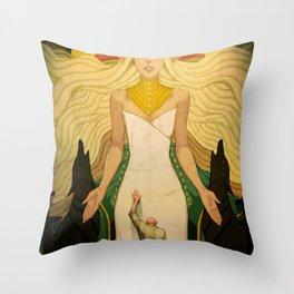 A goddess of his own Throw Pillow