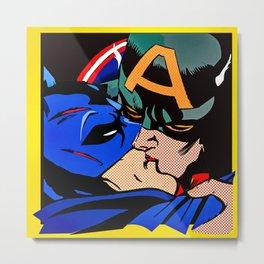 Cap kissing Bruce Metal Print