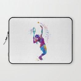 Girl Tennis Watercolor Art Print Sports Nursery Home Decor Kids Room Sports Painting Gifts Laptop Sleeve