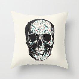 T-Skull Throw Pillow