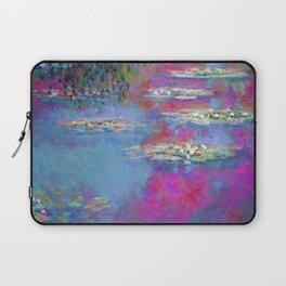 Water Lillies - Claude Monet (plastic pink) Laptop Sleeve