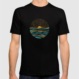 The Sun and The Sea - Gold and Teal T-shirt