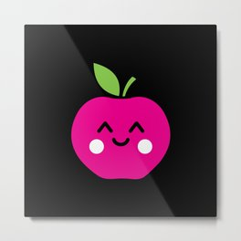 Kawaii Sweet Apple Gift Idea Motif Design Metal Print