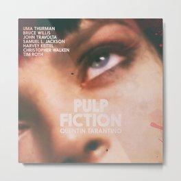 Pulp Fiction, Quentin Tarantino, alternative movie poster, Uma Thurman, Mia Wallace Metal Print